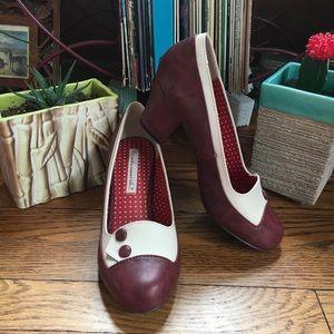 B.A.I.T Rosalinda Wildberry/Cream Retro Heels